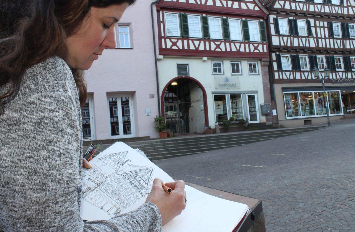 Zeichner*innen aufgepasst: Jetzt anmelden zum Urban-Sketching-Wochenende am 7./8. August